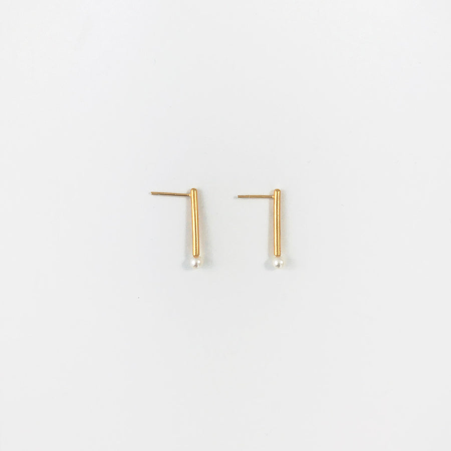Shop Pearl Bars Yellow Gold