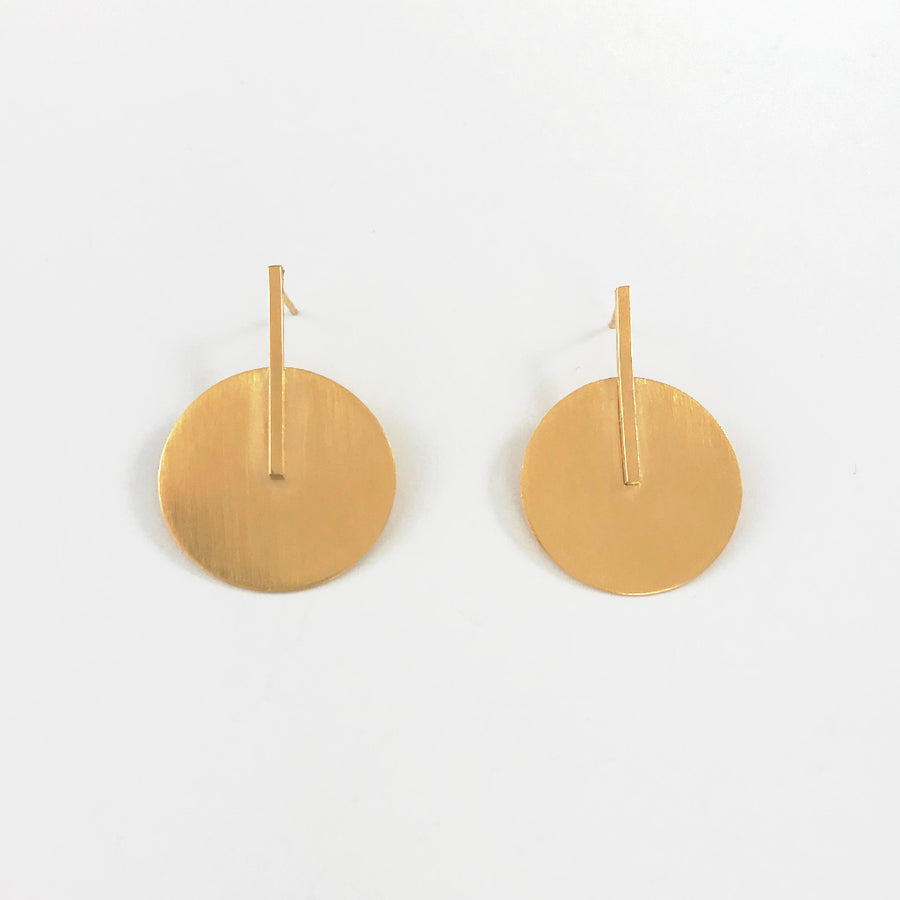 Shop Large Gold Sunburst Earrings