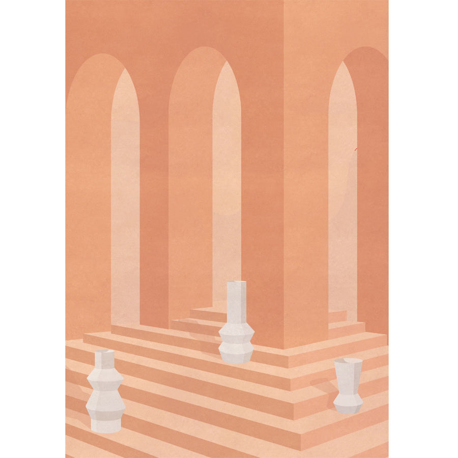 Stepped Archway with Vase Print - Charlotte Taylor