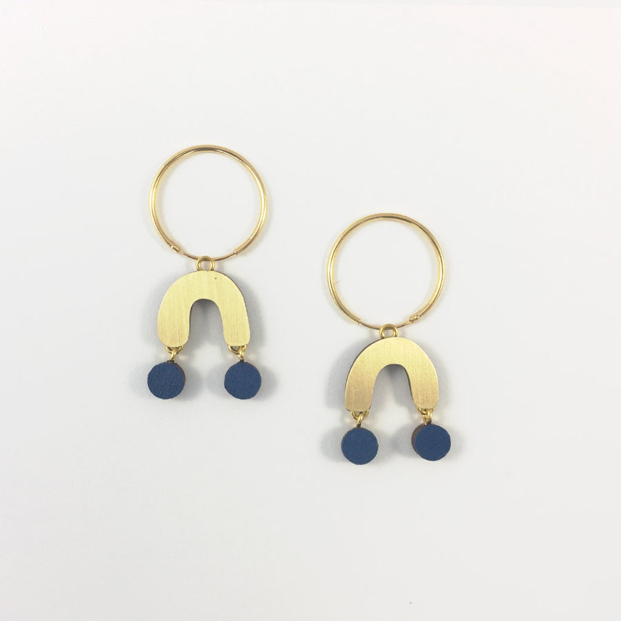 Wolf & Moon - Miro Hoops - Cobalt Blue