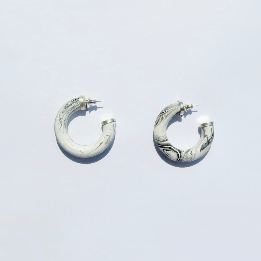 Amelia Earrings - Alabaster - Medium