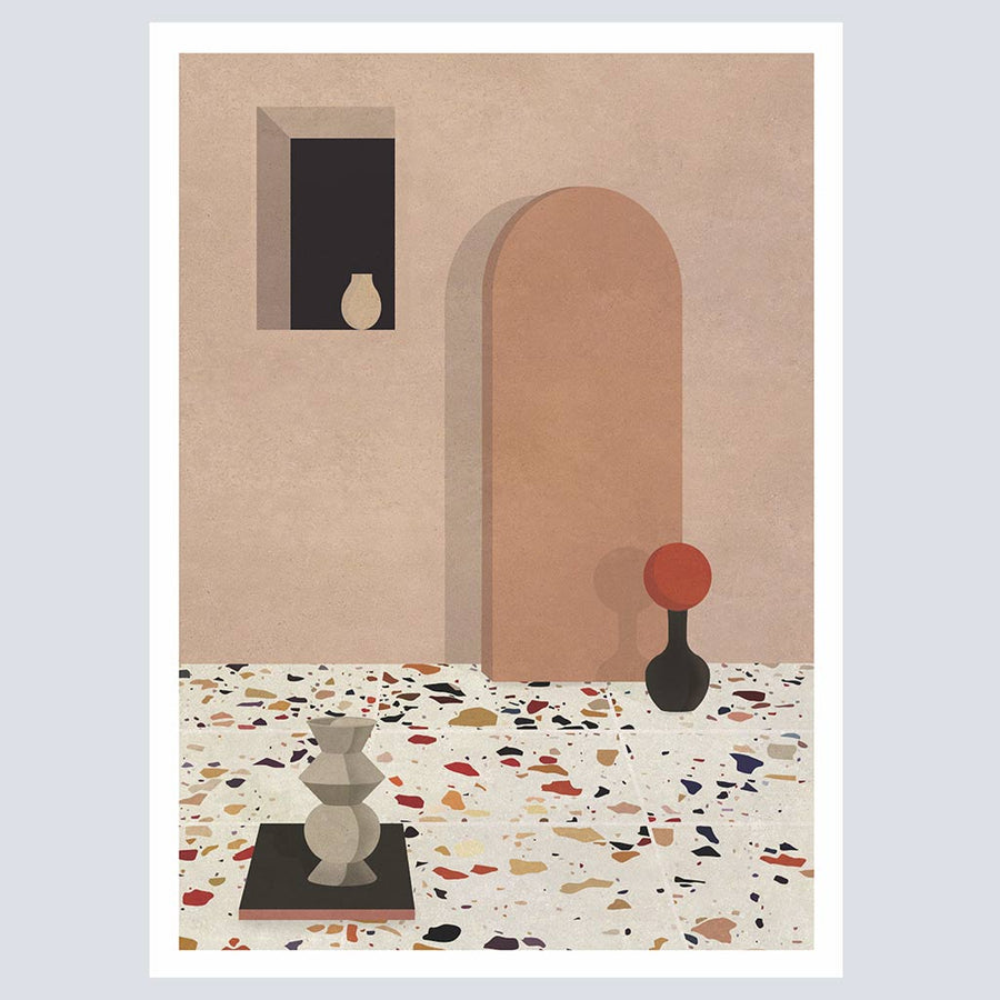 Objects and Terrazzo Print