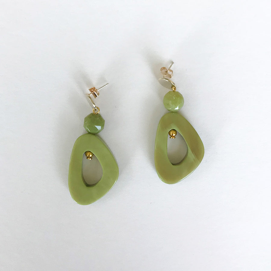 Palm Green Earrings