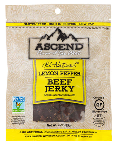 Ascend® Beef Jerky - Lemon Pepper