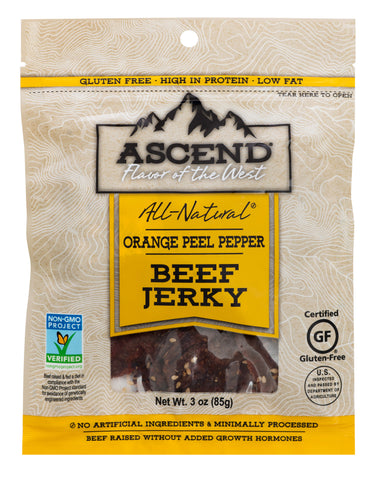 Ascend® Beef Jerky - Orange Peel Pepper