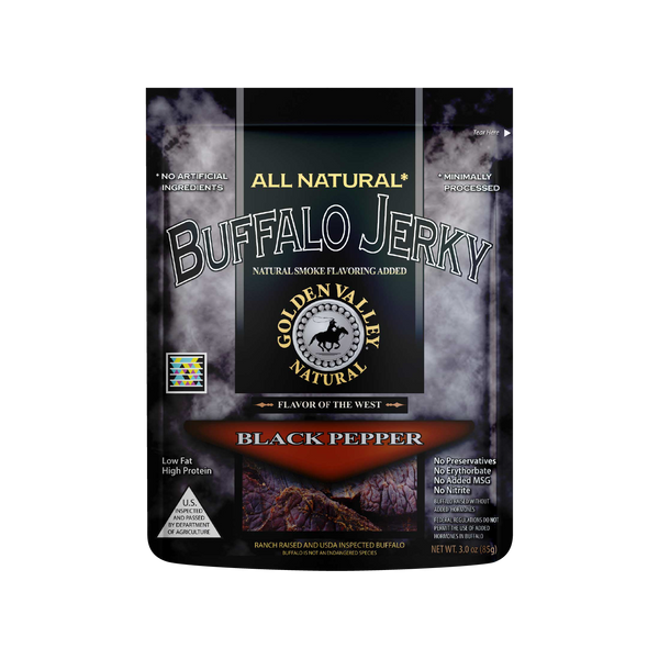 Natural Buffalo Jerky 3.0 oz - Black Pepper