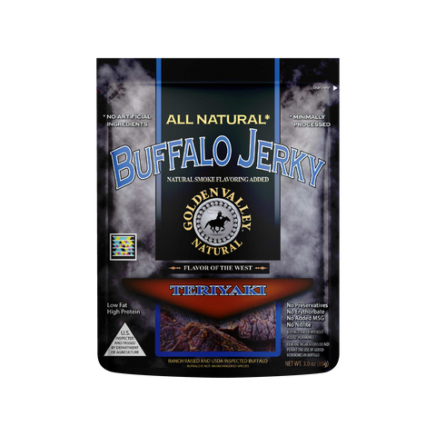 Natural Buffalo Jerky 3.0 oz - Teriyaki