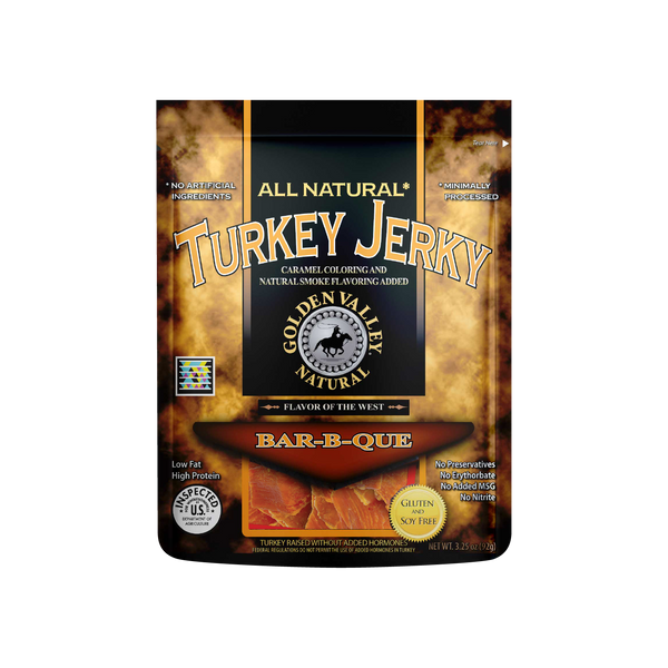 Natural Turkey Jerky 3.25 oz - BBQ