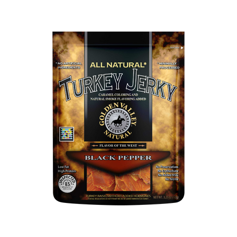 Natural Turkey Jerky 3.25 oz - Black Pepper