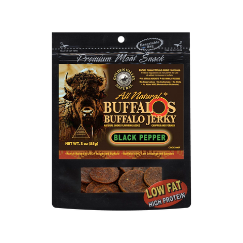 Natural BuffalO's Buffalo Jerky 3.0 oz - Black Pepper