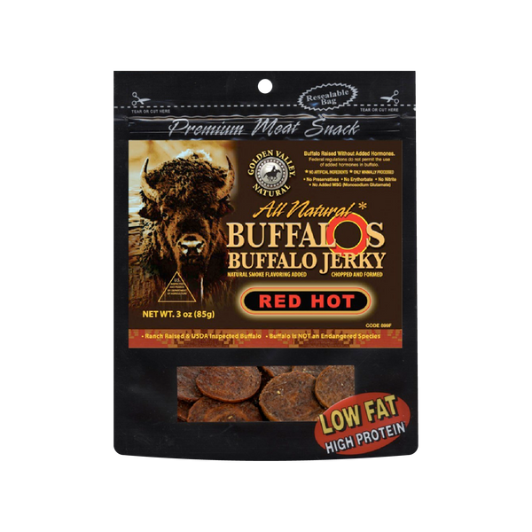 Natural BuffalO's Buffalo Jerky 3.0 oz - Red Hot