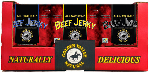 Natural Beef Jerky 3.25 oz - 3 Flavor Shipper