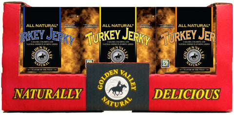 Natural Turkey Jerky 3.25 oz - 3 Flavor Shipper
