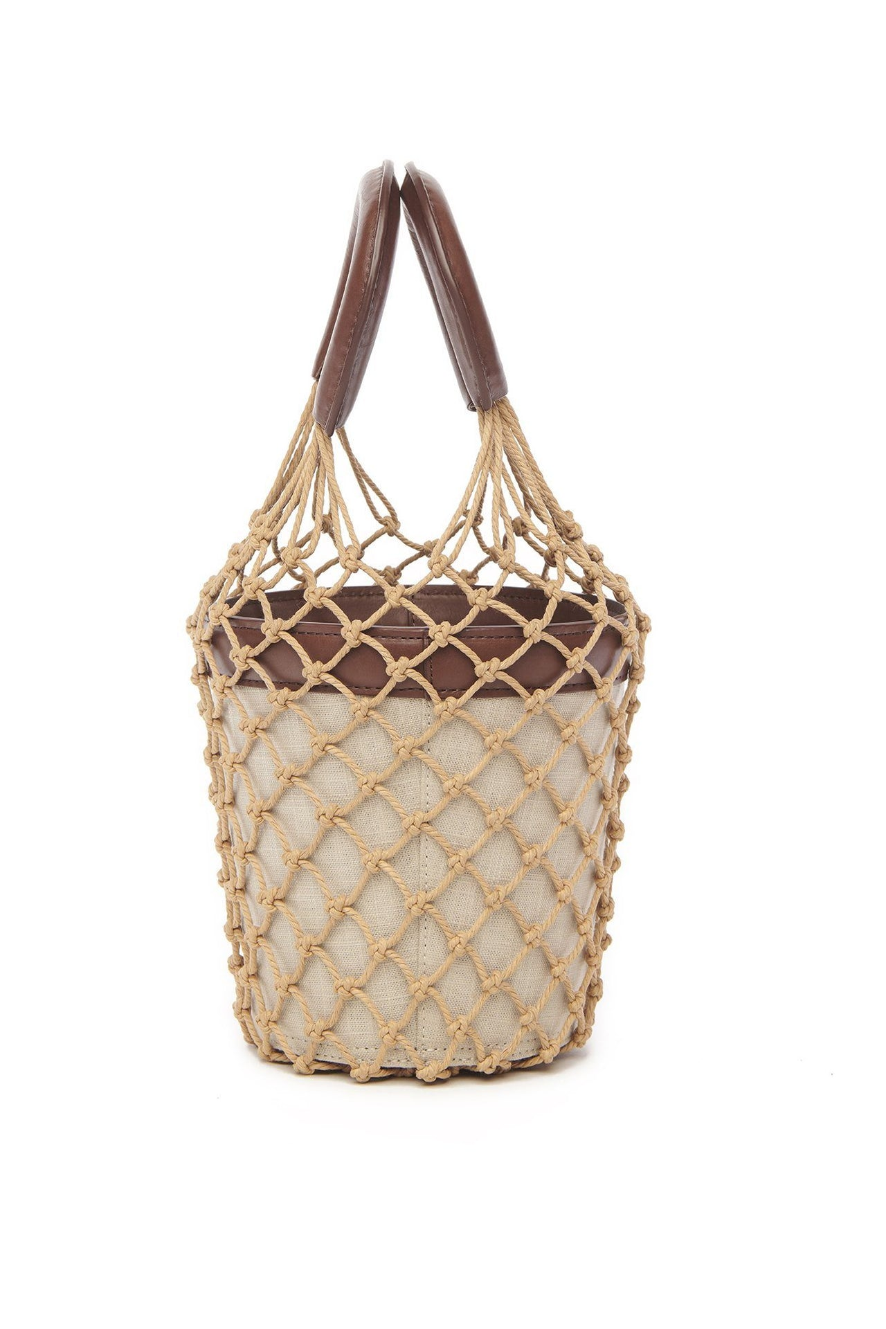 STAUD Moreau Bucket Bag Natural Chocolate