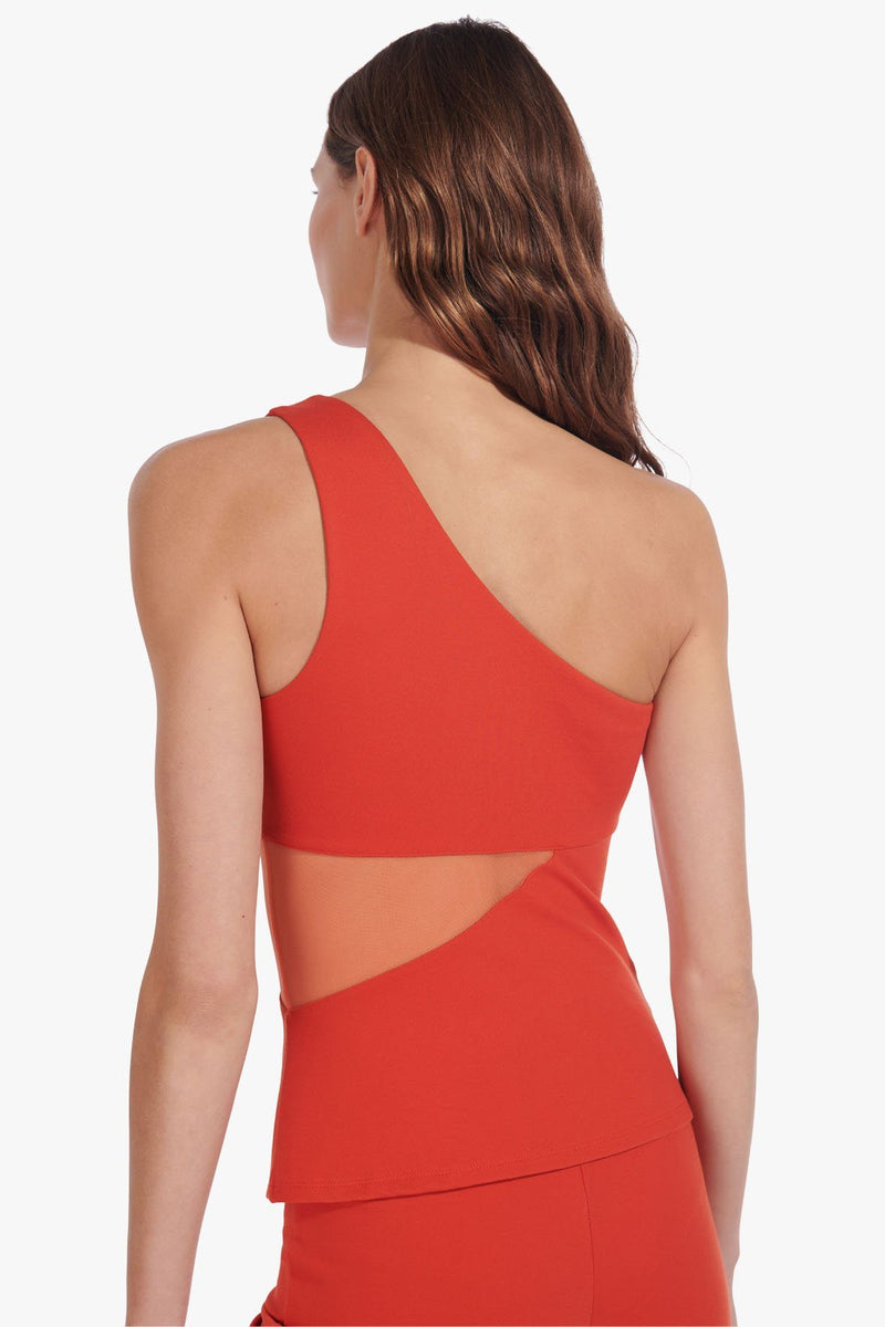 STAUD AETHER TOP | FIERY RED NECTARINE