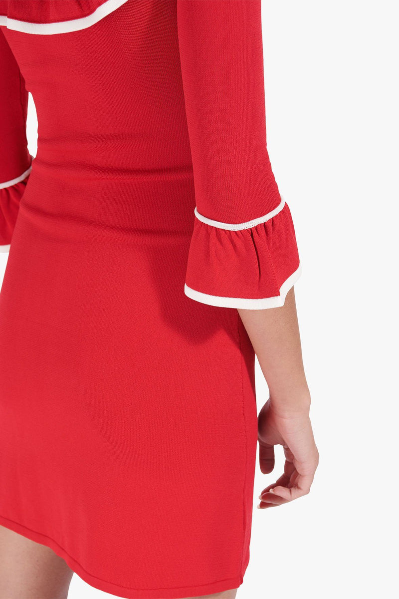 STAUD ANOUK DRESS | TOMATO