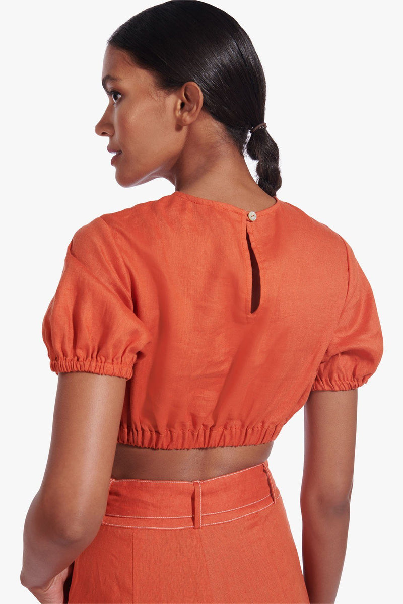 STAUD ATHENA TOP | BURNT OCHRE