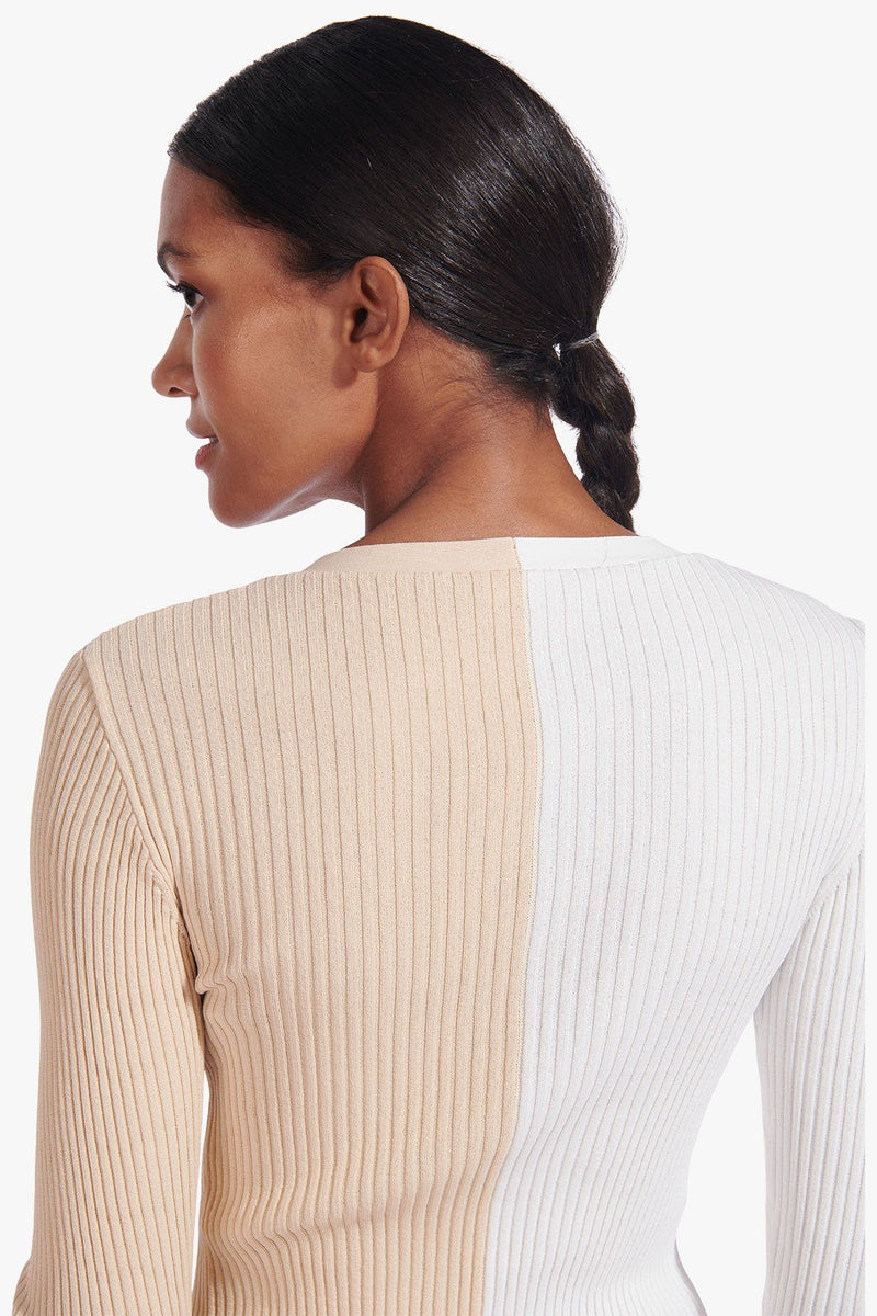 STAUD CARGO SWEATER | BISCOTTI WHITE