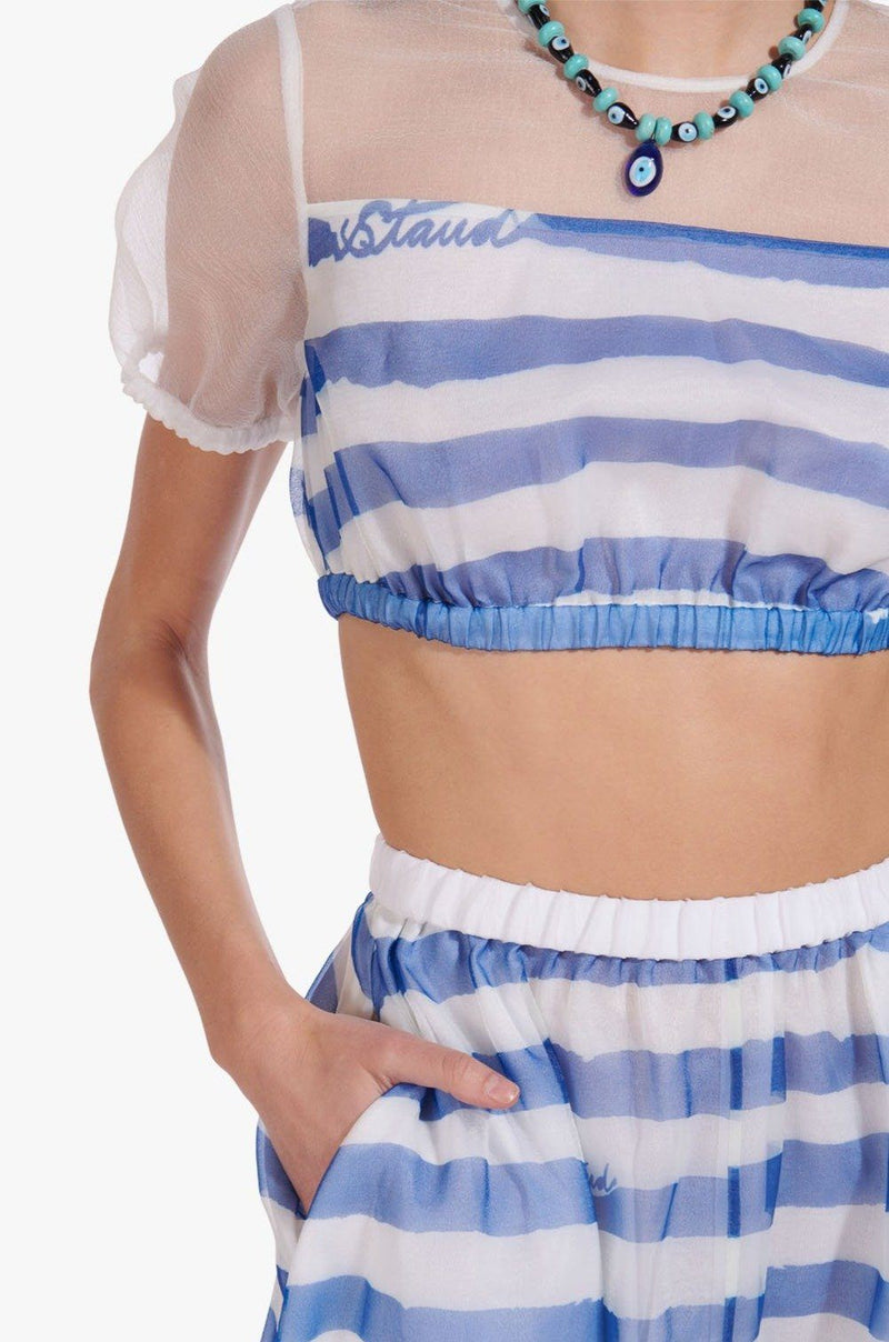 STAUD MATTIA SKIRT | PAINTED STRIPE