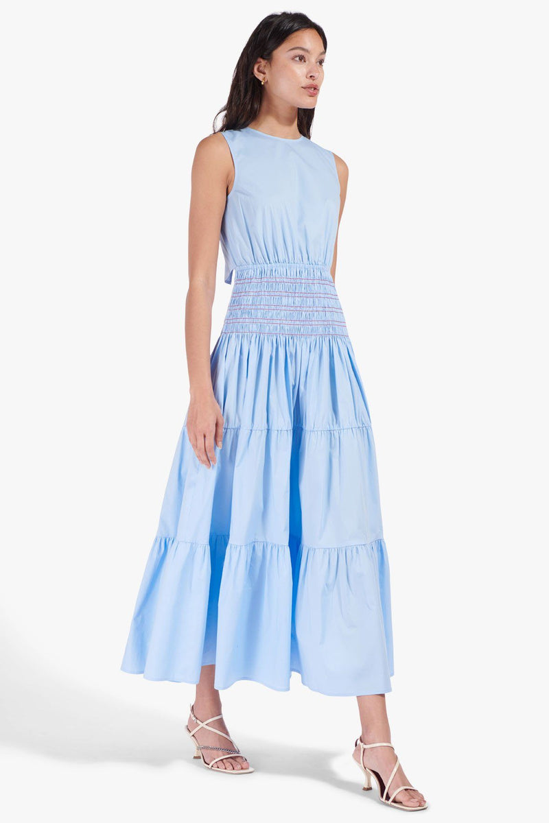 STAUD GRANT DRESS | FRENCH BLUE