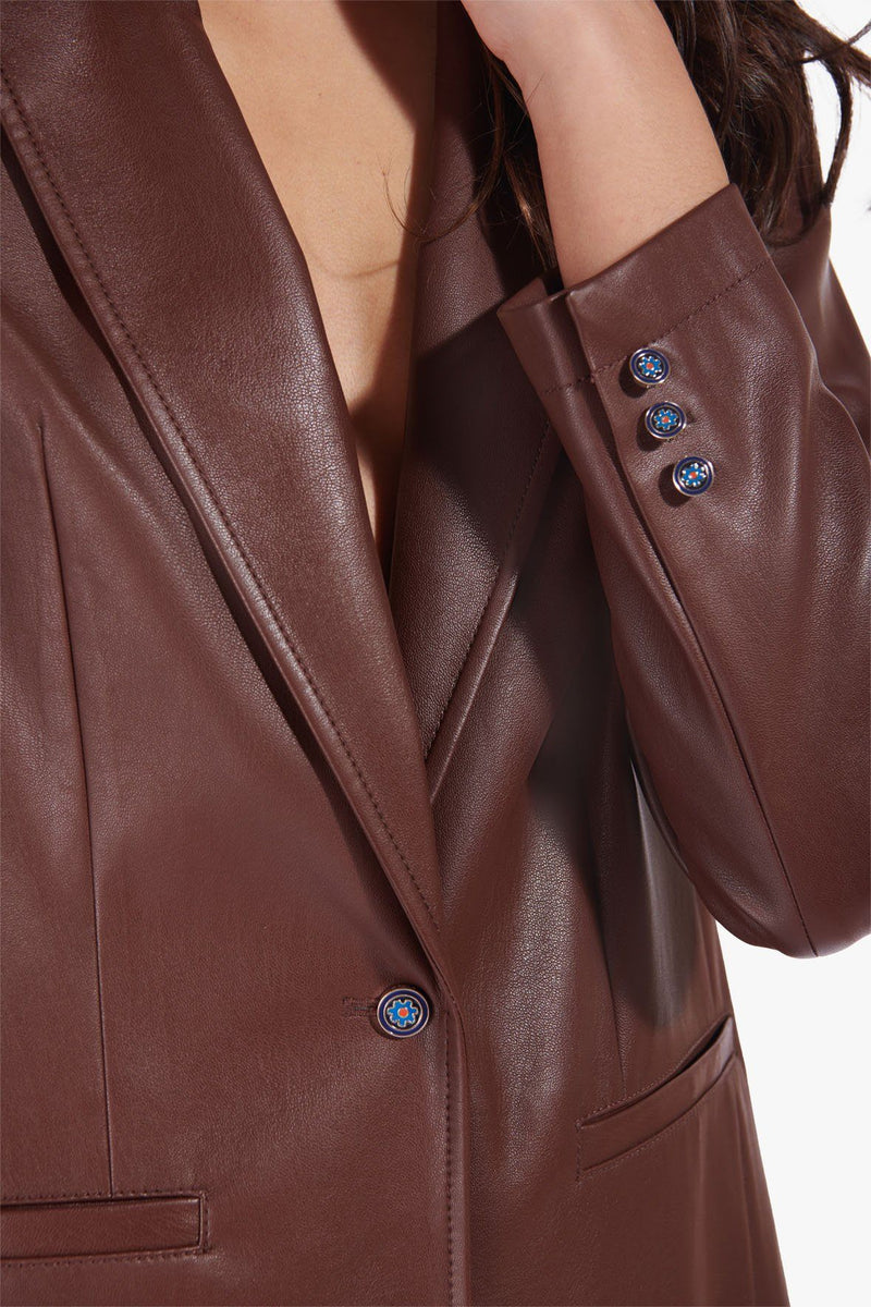 STAUD MADDEN BLAZER | BARK VEGAN LEATHER