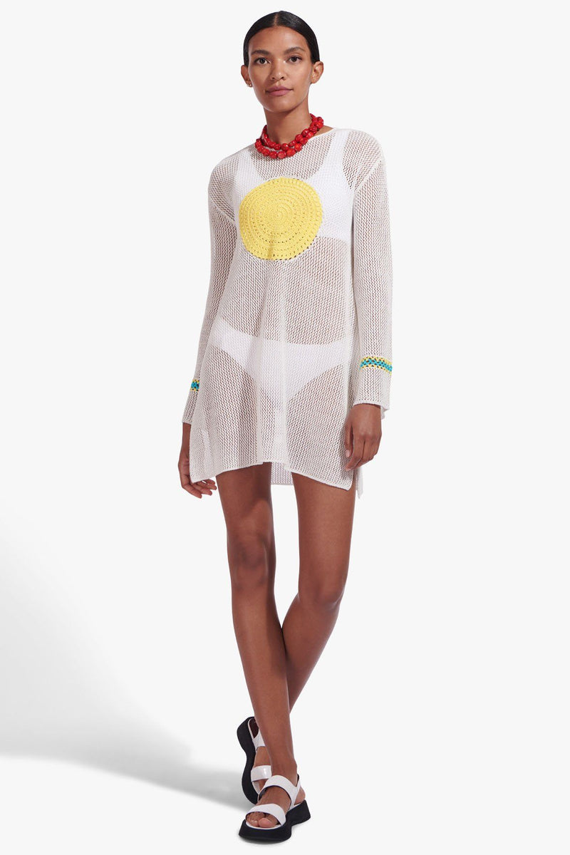 STAUD MARATEA TUNIC DRESS | WHITE