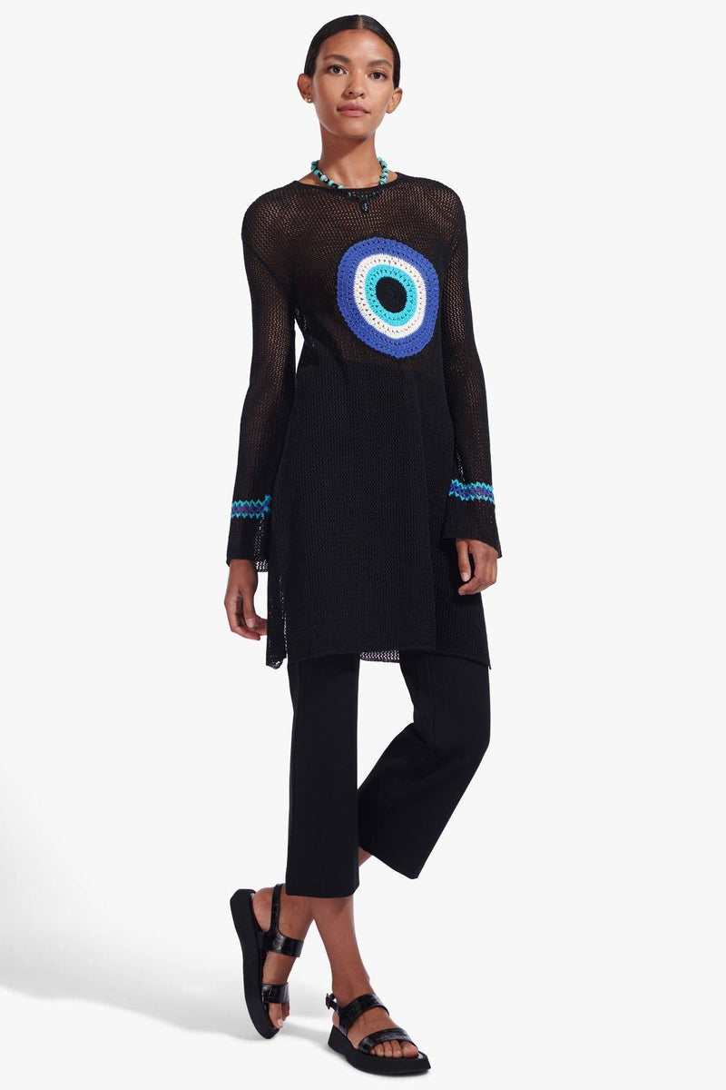 STAUD MARATEA TUNIC DRESS | BLACK