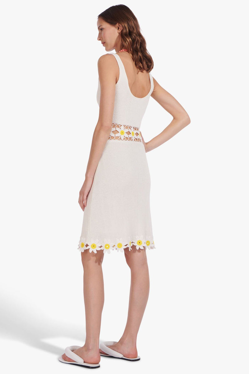 STAUD MARGHERITA DRESS | WHITE