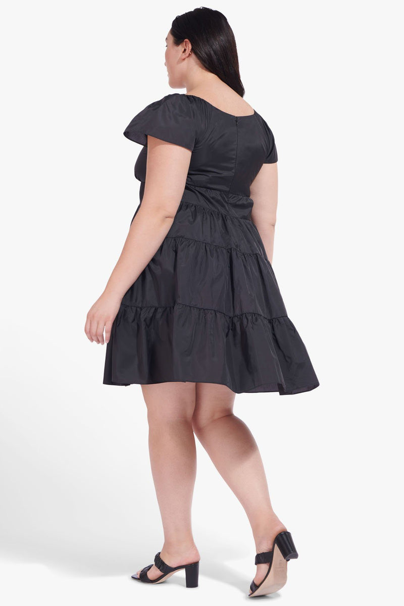 STAUD CORSICA MINI DRESS | BLACK ES