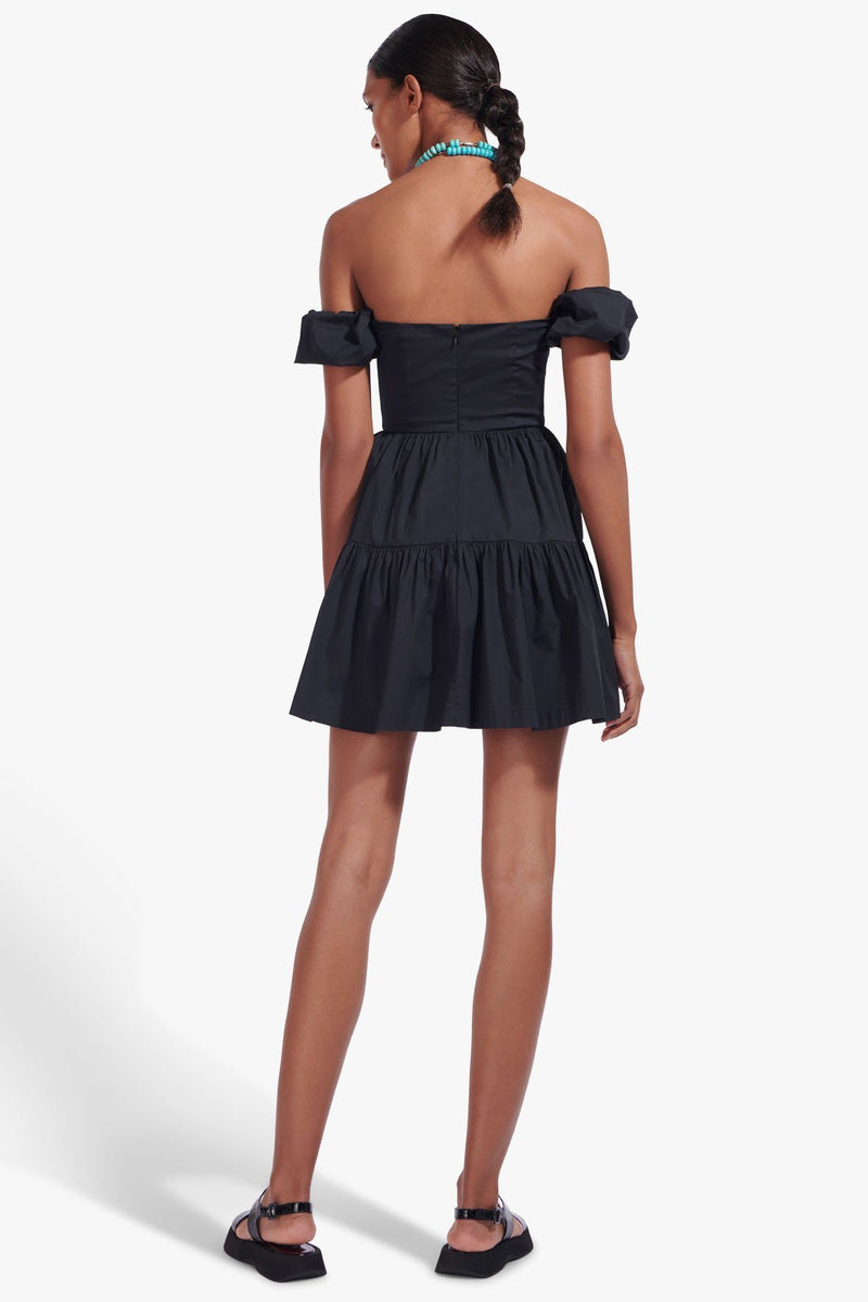 STAUD MINI ELIO DRESS | BLACK