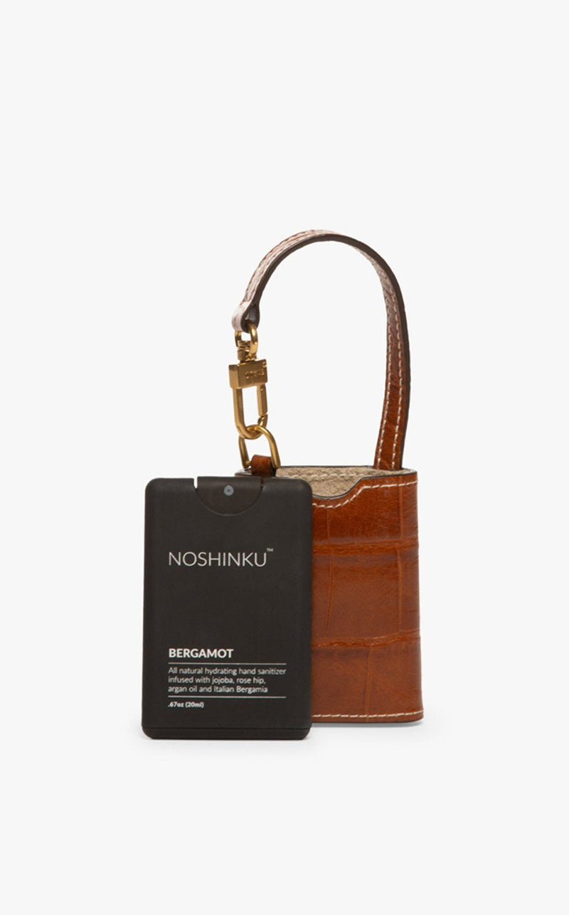 STAUD STAUD x NOSHINKU HAND SANITIZER & CASE | SADDLE CROC EMBOSSED