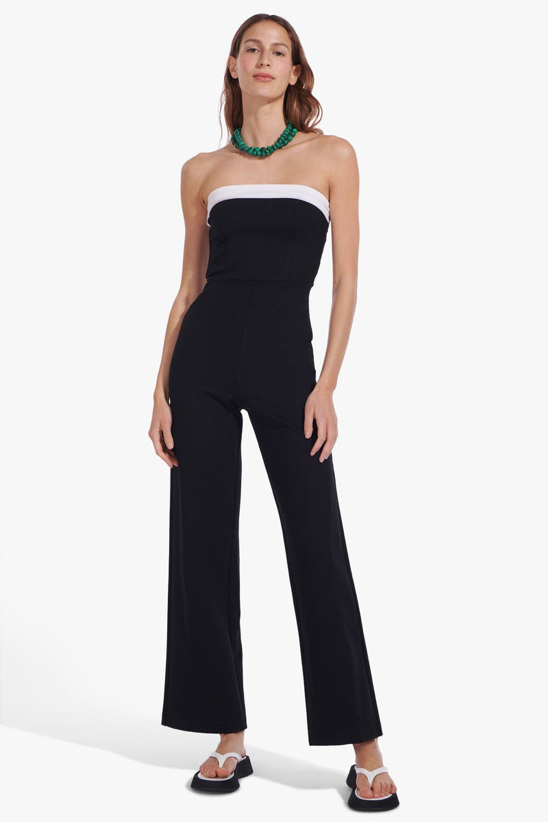 STAUD RIZZOLI JUMPSUIT | BLACK