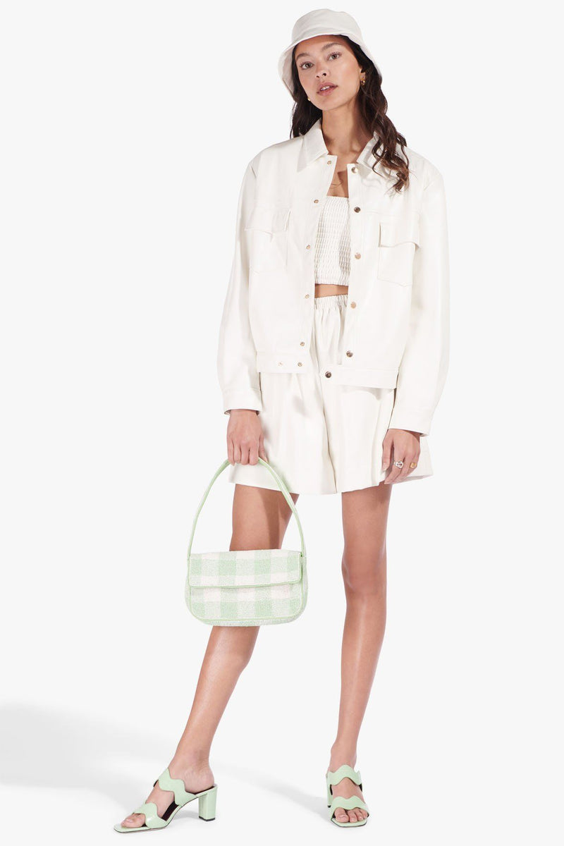 STAUD TOMMY BEADED BAG | AGAVE WHITE