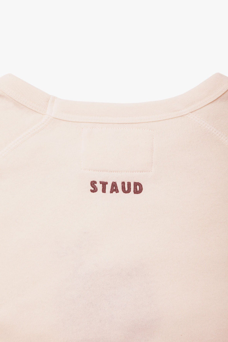 STAUD STAUD x C.BONZ CUSTOM SWEATSHIRT | LIGHT PINK