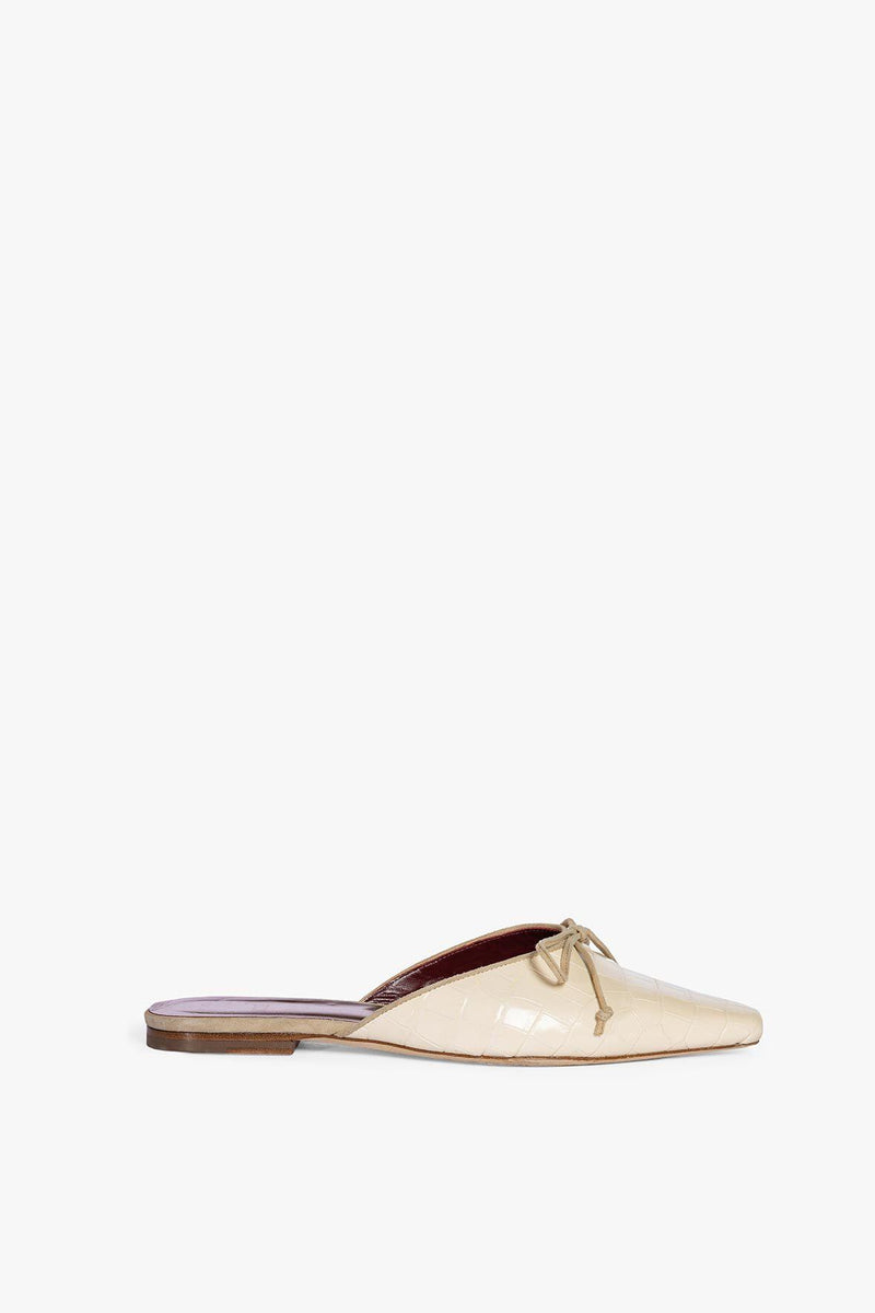 STAUD GINA MULE | CREAM CROC