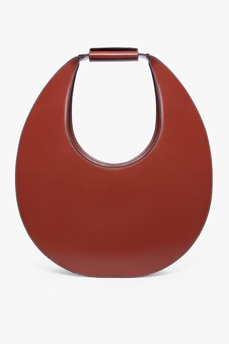 STAUD LARGE MOON BAG | COGNAC