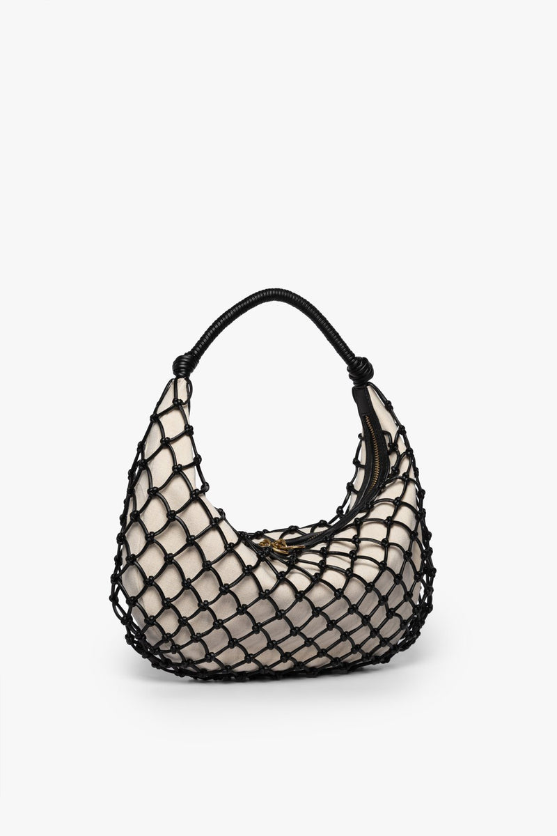 STAUD LUNA BAG | BLACK VEGAN LEATHER