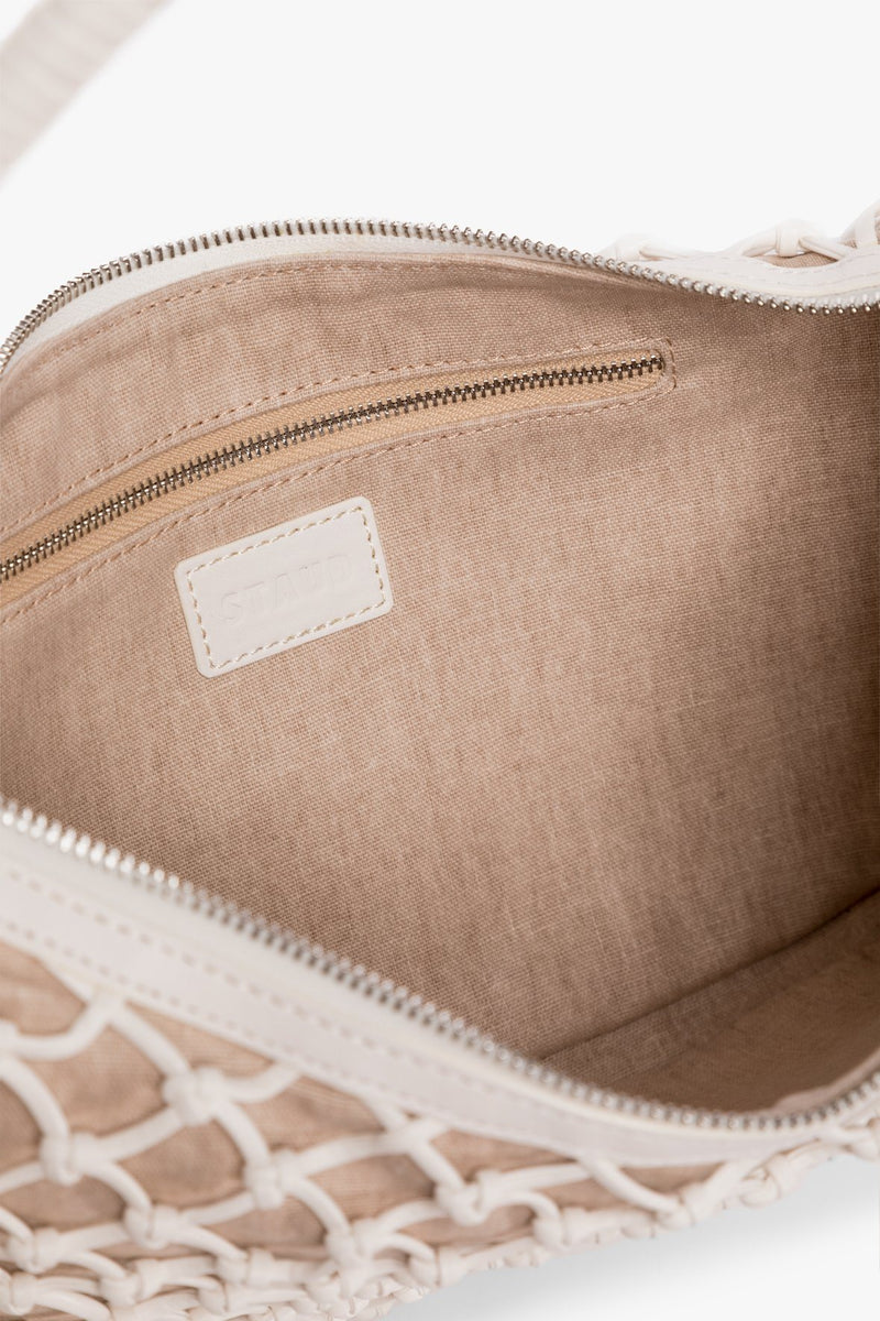 STAUD LUNA BAG | FRESH WHITE VEGAN LEATHER