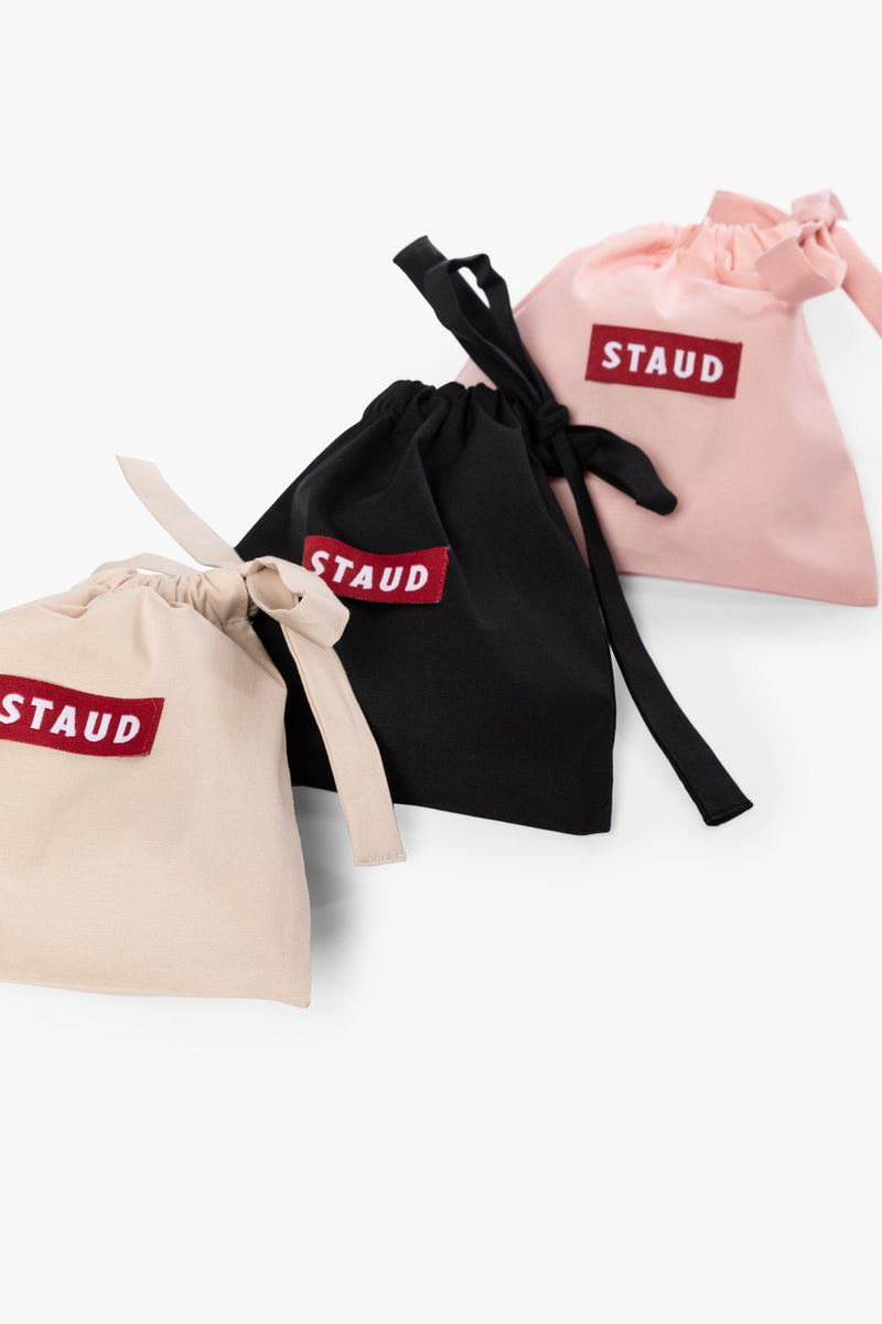 STAUD POPLIN 3 PACK MASK SET | BISCOTTI CREAM BLACK