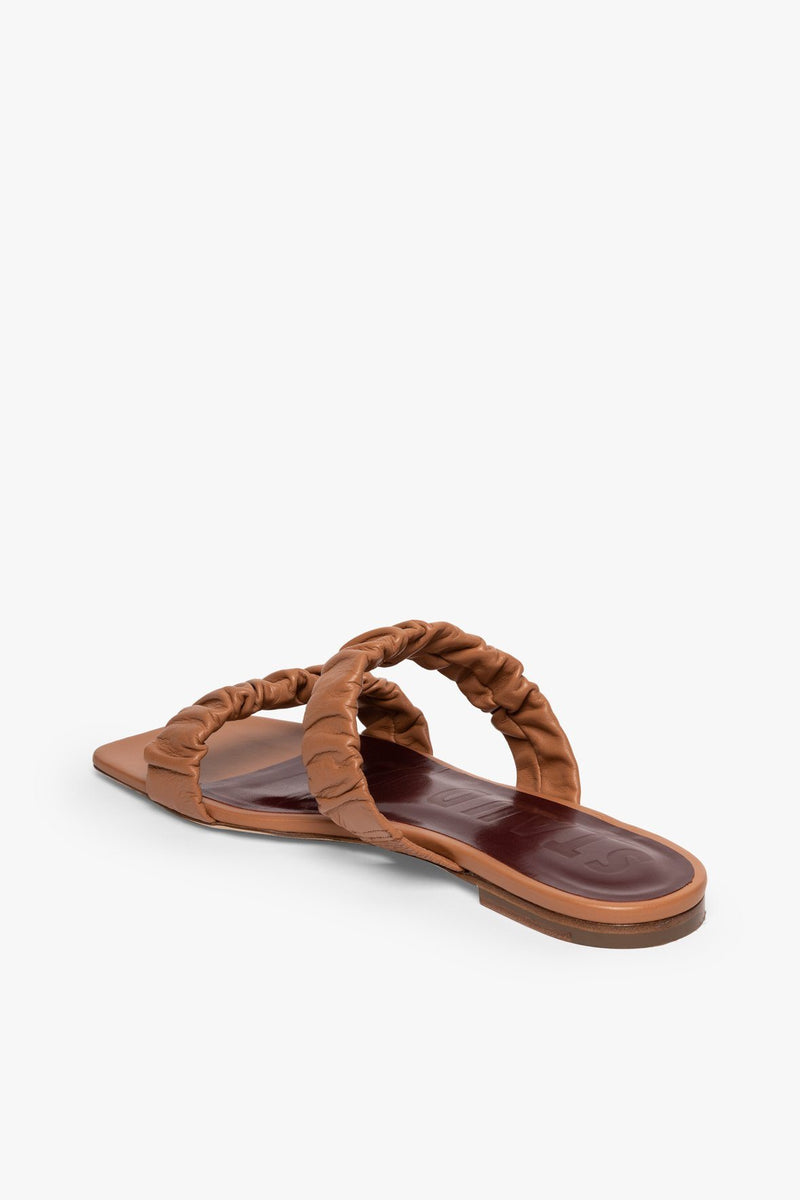 STAUD MAYA RUCHED SANDAL | TAN