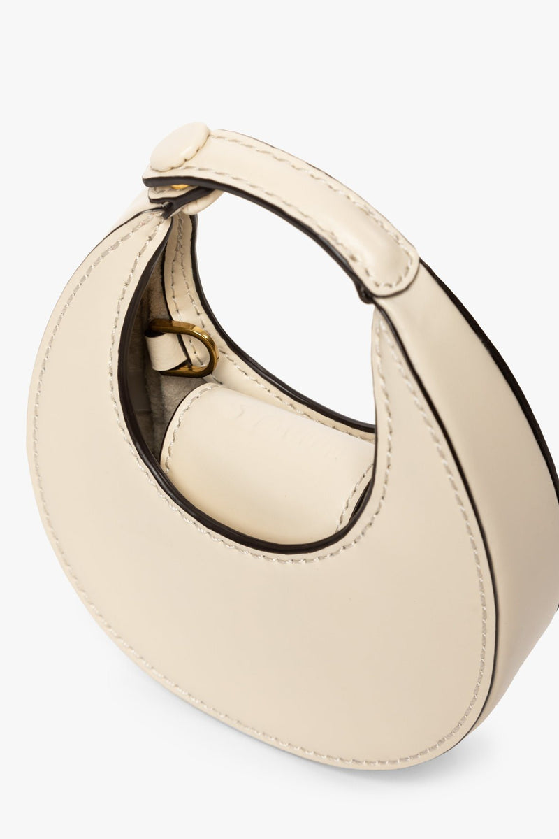 STAUD MICRO MOON BAG | CREAM