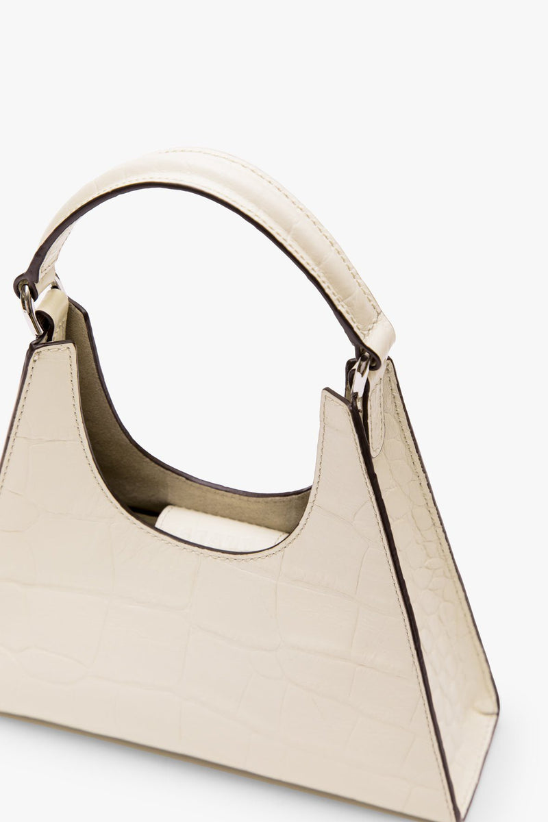 STAUD MINI CROSSBODY REY BAG | CREAM CROC EMBOSSED