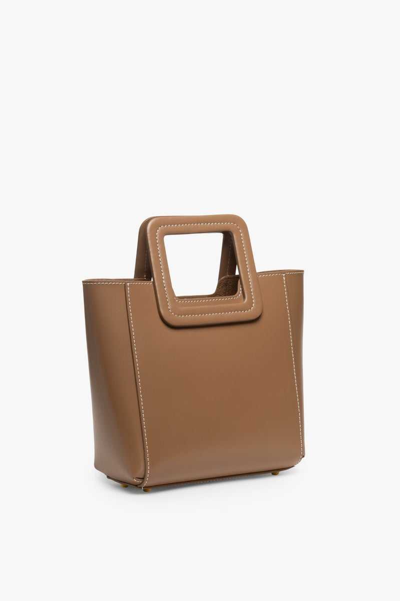 STAUD MINI SHIRLEY LEATHER BAG | MUSHROOM
