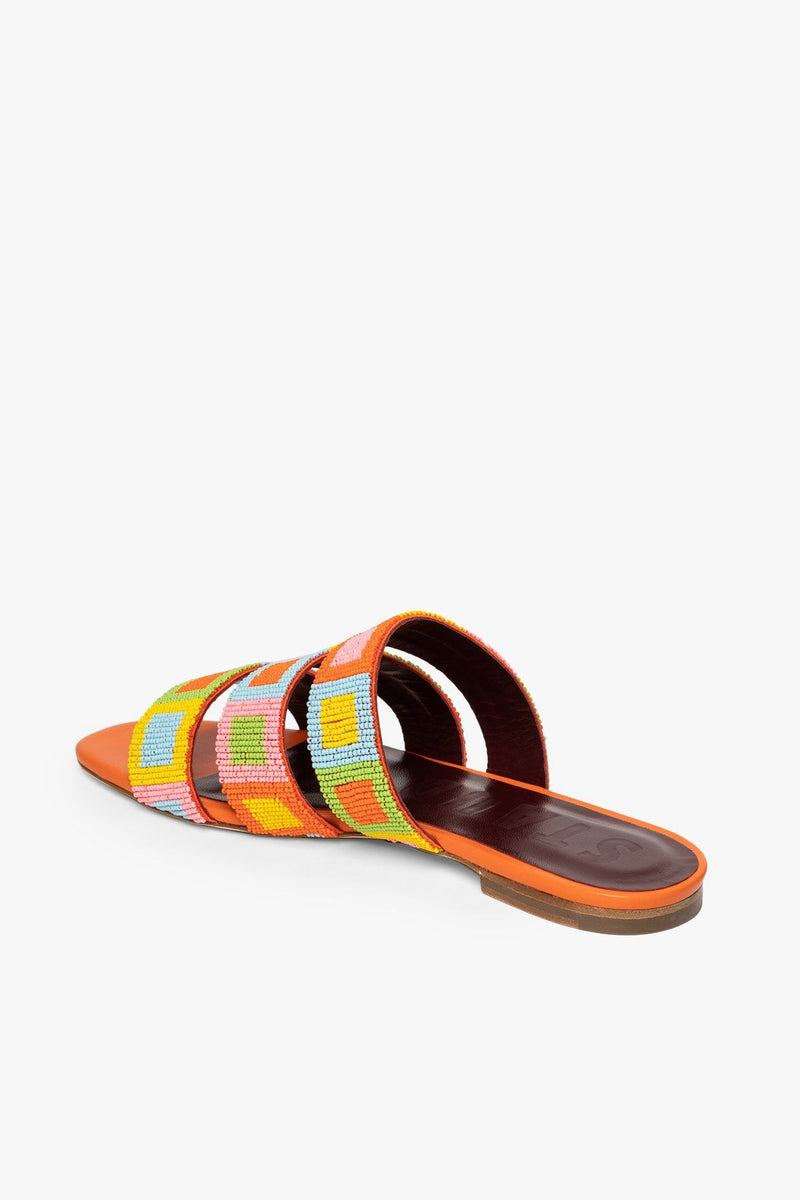 STAUD MONA BEADED SANDAL | MULTI MOSAIC
