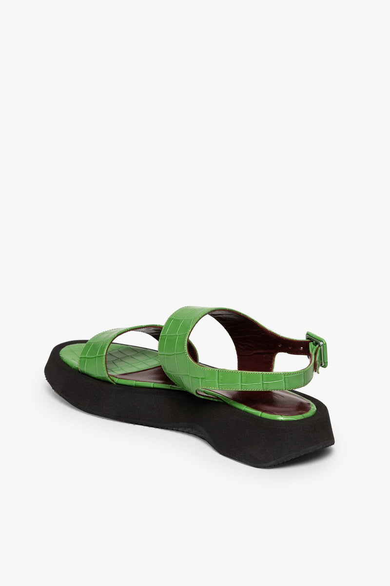 STAUD NICKY SANDAL | KELLY CROC EMBOSSED