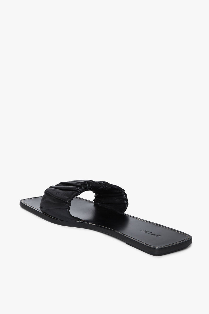 STAUD NINA RUCHED SANDAL | BLACK