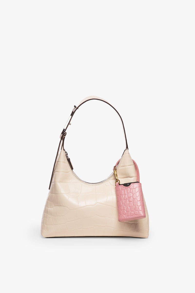 STAUD STAUD x NOSHINKU HAND SANITIZER & CASE | GERANIUM CROC EMBOSSED