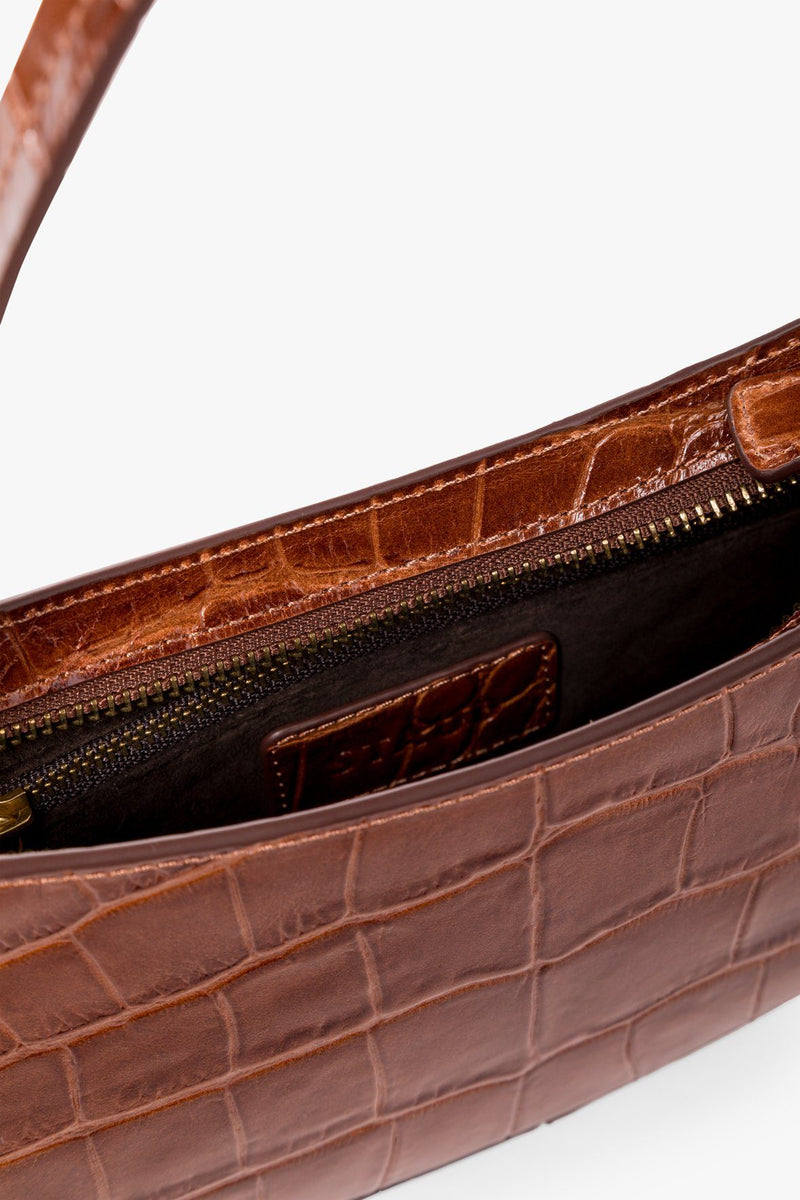STAUD OLLIE BAG | SADDLE CROC EMBOSSED