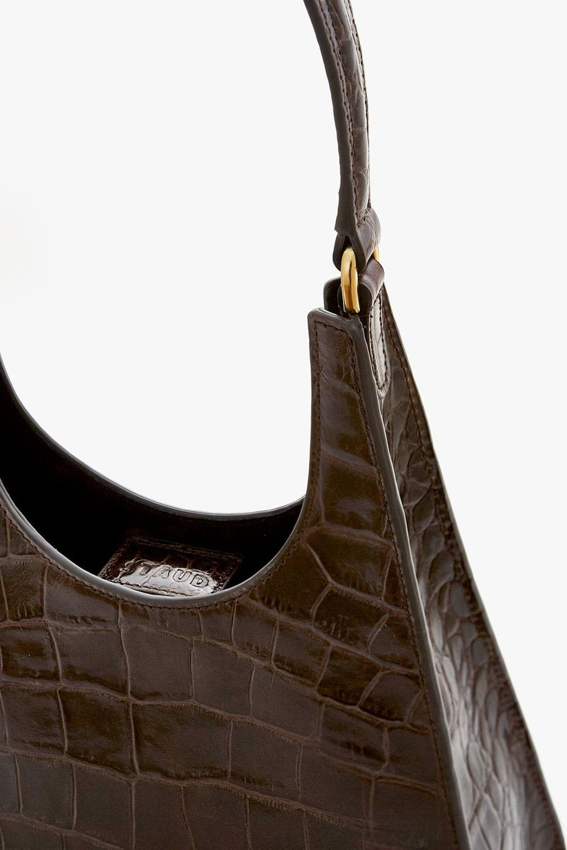STAUD REY BAG | BROWN CROC EMBOSSED