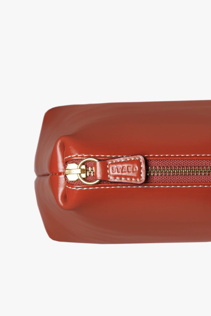 STAUD CUSTOM SHIRLEY LEATHER BAG | COGNAC